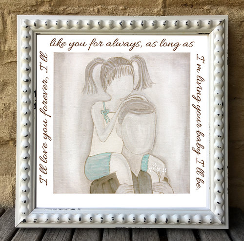 Father Daughter Limited Edition Print With Quote Ill Love You