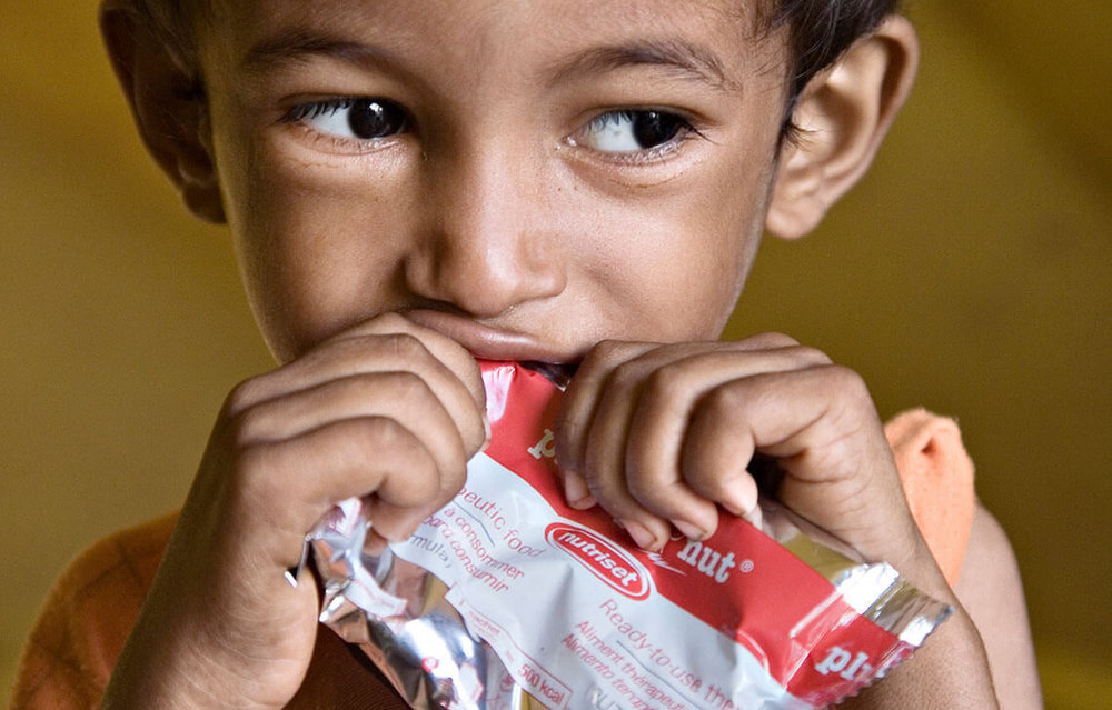 while almost 1 in 4 children globally are malnourished. -