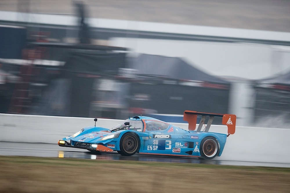 Customer Race SL-C in the rain at Thunderhill during the NASA 2015 25 Hour race.