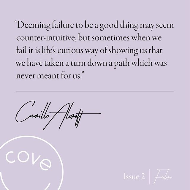 "@llanddwyn247 's account of her own personal failures highlights just how natural ""failing"" is in life. Read it in full on covemag.com // link in bio #cove #issue2 💪🏼"