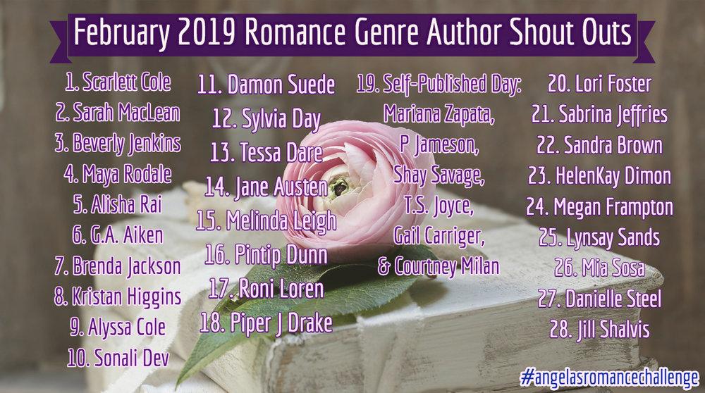 romance genre shout outs