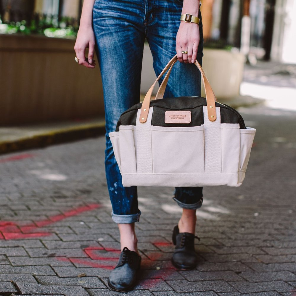 """""""Upon receiving my bag, I could tell that every detail was meticulously considered - whether it was the hardware, leather, placement of the tag - this bag was made with pride."""" - Laura Stewart"""