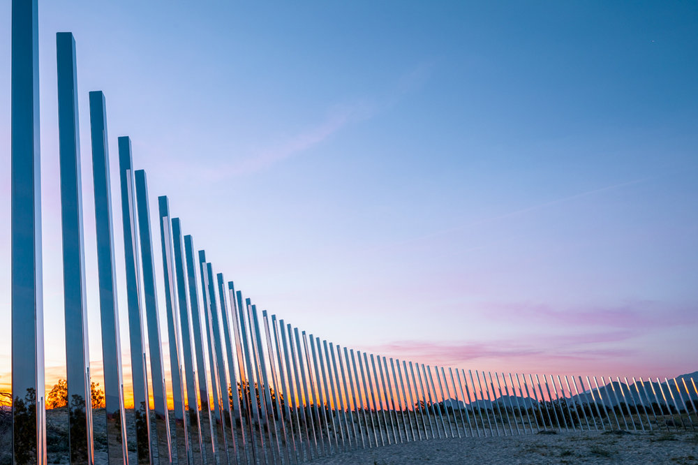Local Artist  Phillip K Smith  Desert X site-specific installation Image by Lance Gerber