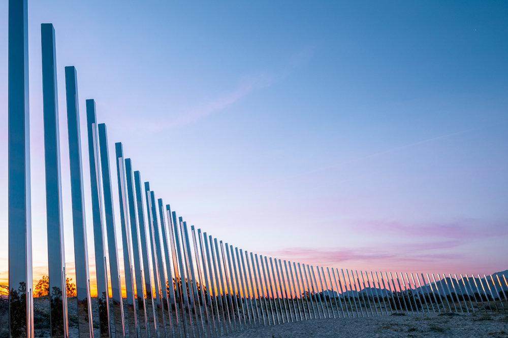 Local Artist Phillip K Smith Desert X site-specific installation Image by Lance Gerber