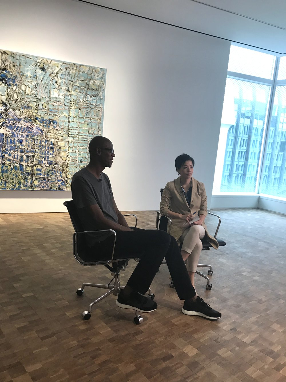 Up close with American artist Mark Bradford and Director-led tour