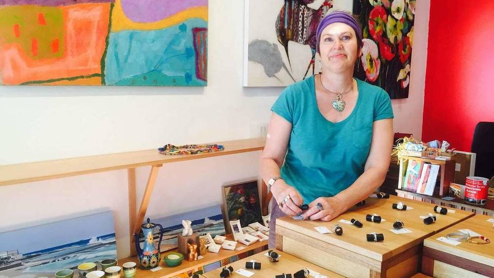 ENTREPRENEUR: Jewellery maker and Nanshe Gallery owner Barbara Nanshe.