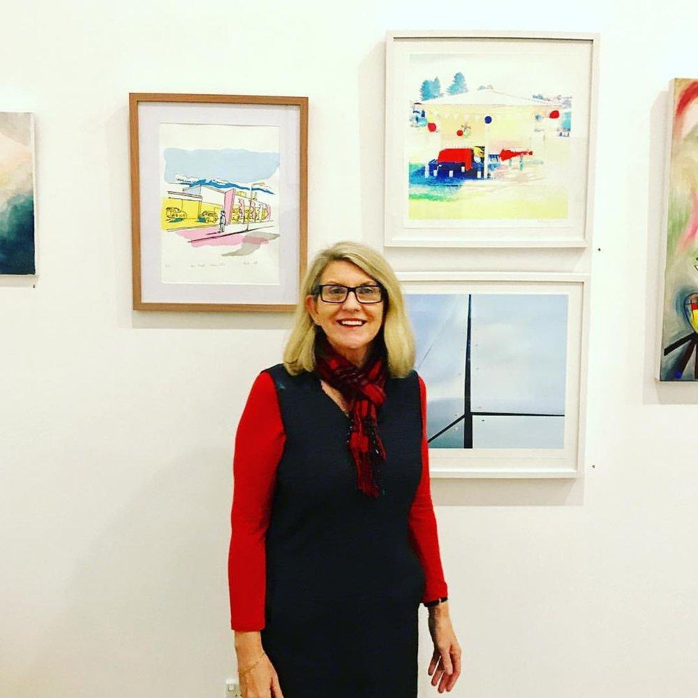 Maryanne Warmsley in Studio 21 art space