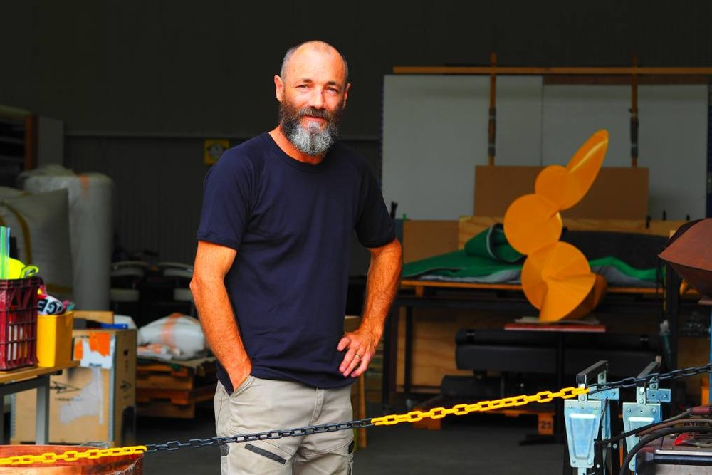 HAPPY IN THE HIVE: Artist Braddon Snape, founder of the successful Creator Incubator. Photo: Zana Kobayashi