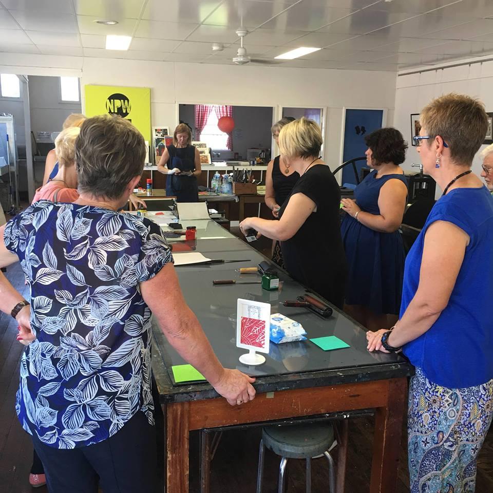 Newcastle Printmakers Workshop art tour 2017