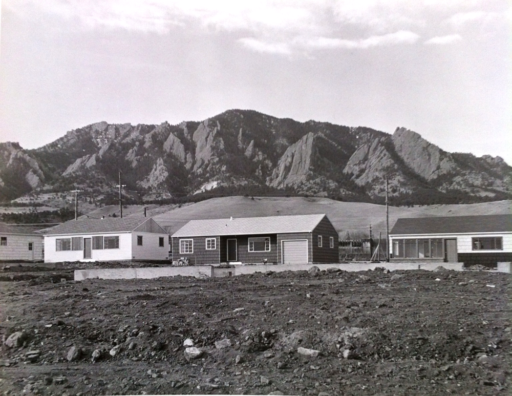 Homes in the Martin Acres Neighborhood in Boulder, CO, Circa 1950s
