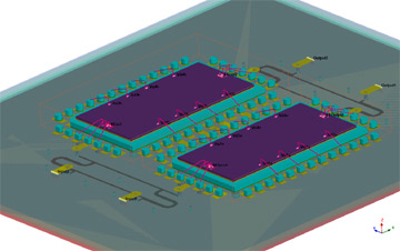Designer RF provides robust design capabilities to simulate RF package applications