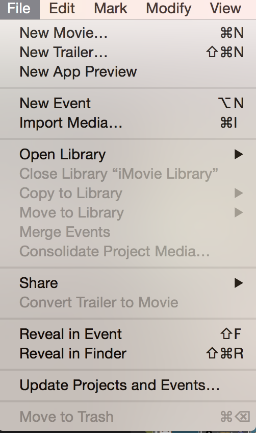 imovie option