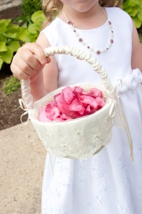 Flower Girl with 1 quart rose petals
