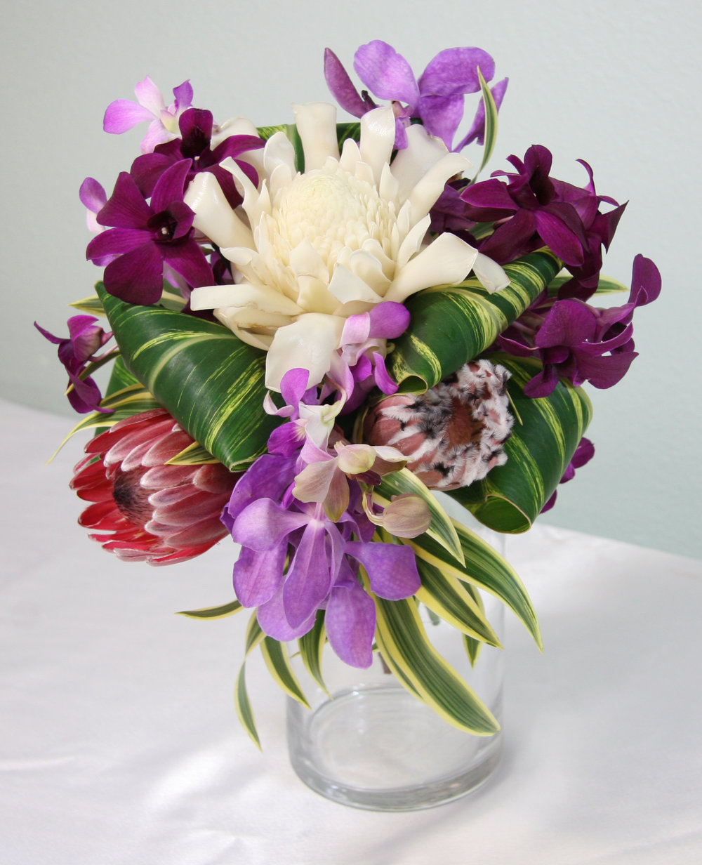 Tropical Bridal Bouquet - Choose your color palette