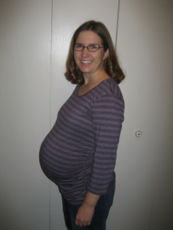 Here I am in 2009 at 38 weeks pregnant. Sadly, I WEIGHED MORE HERE THAN I DID WHEN I STARTED USING MY INKWELL PRESS PLANNER IN 2016.