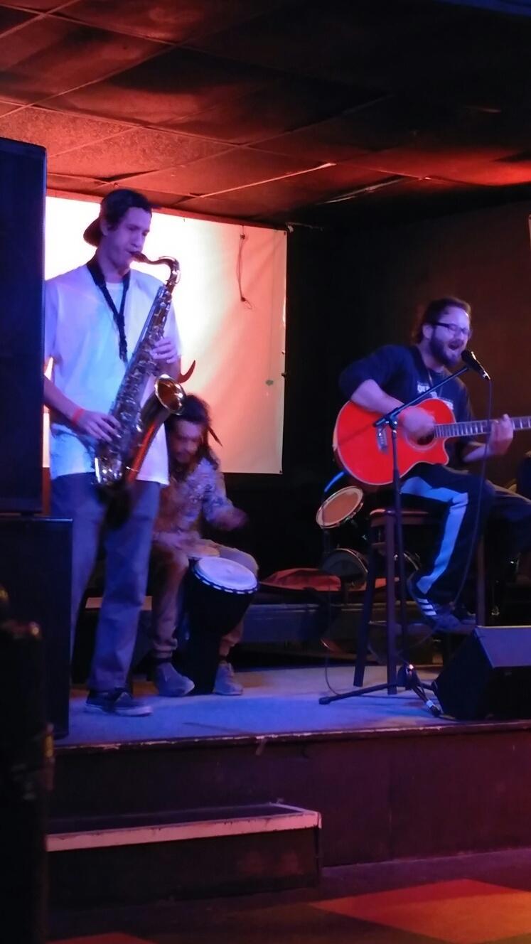 TONY, TAZZI, DREW, AND JON JAMMIN AT O'HERMAN'S HOUSE OF MUSIC