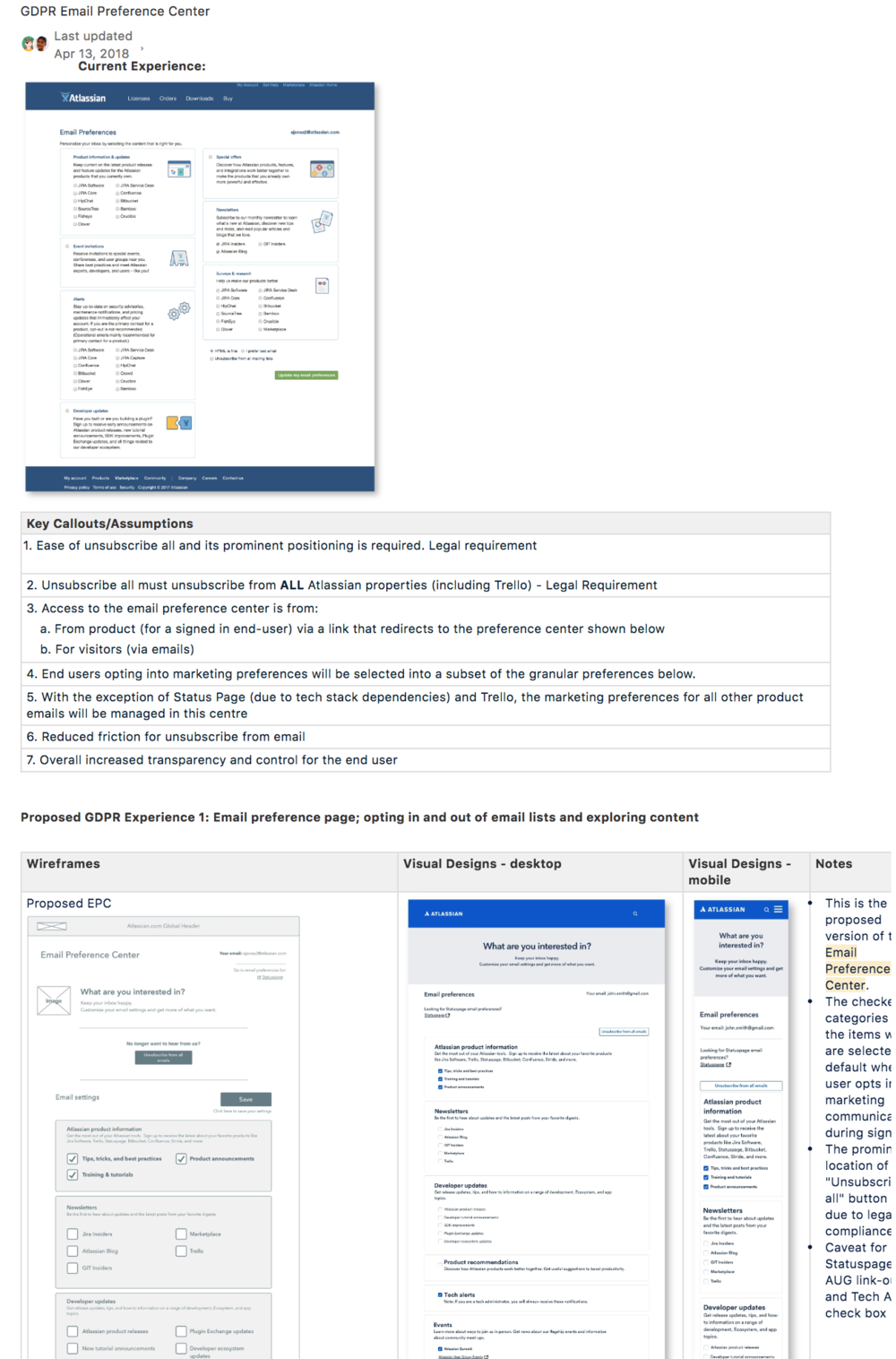 Example of design documentation