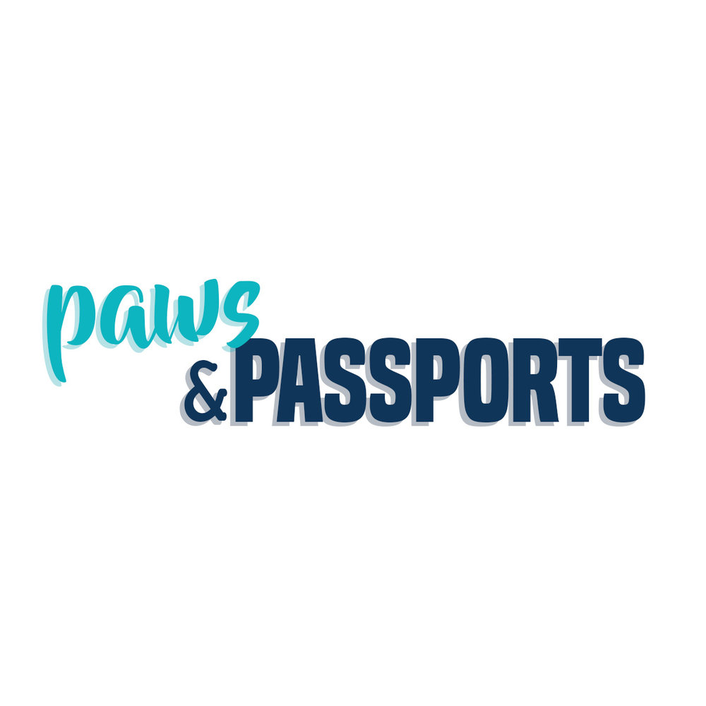 Paws and Passports:  logo design, assets and branding