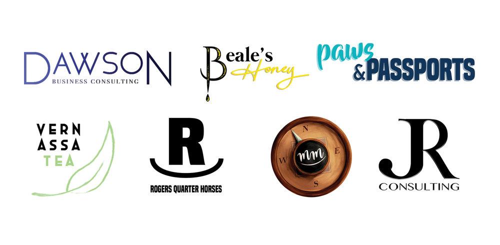 Selection of logo designs.