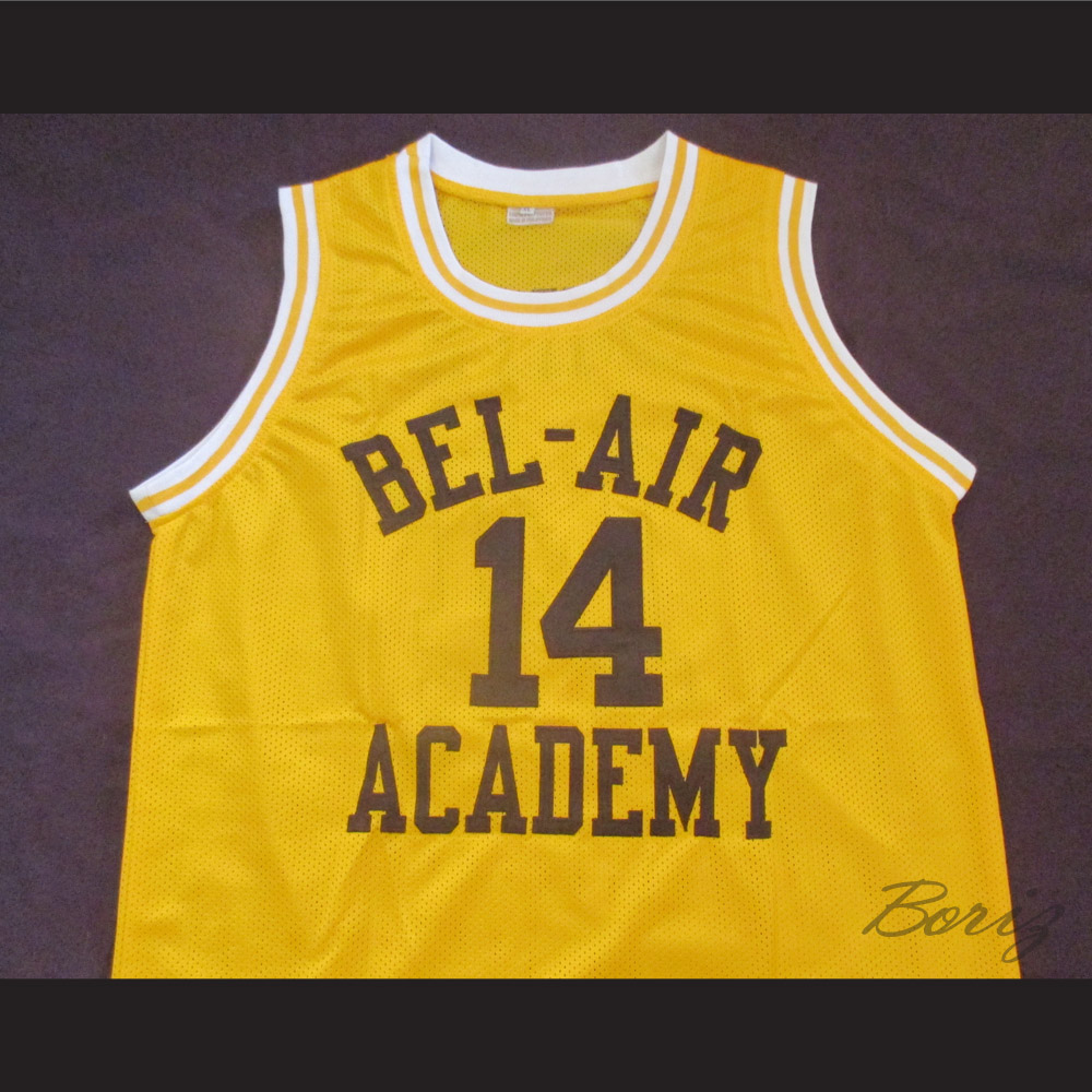 6f870f6d1f1 The Fresh Prince of Bel-Air Will Smith Bel-Air Academy Home Basketball  Jersey — BORIZ