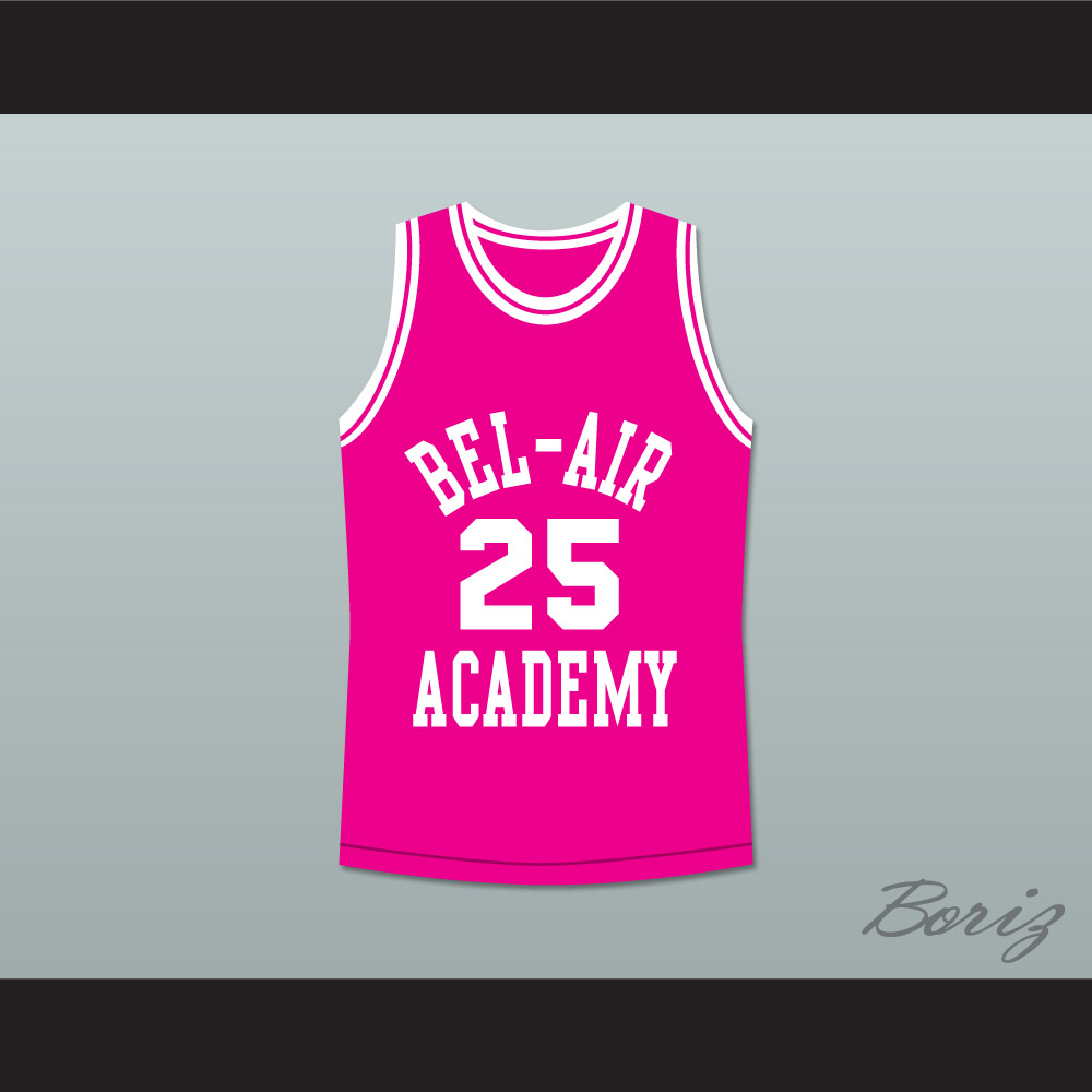 The Fresh Prince of Bel-Air Alfonso Ribeiro Carlton Banks Bel-Air Academy  Pink Basketball Jersey — BORIZ 72e7d499fb4a
