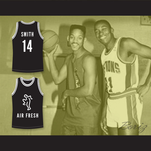 The Fresh Prince of Bel-Air Will Smith 14 Air Fresh Black Basketball ... 9431c5a5e1d5
