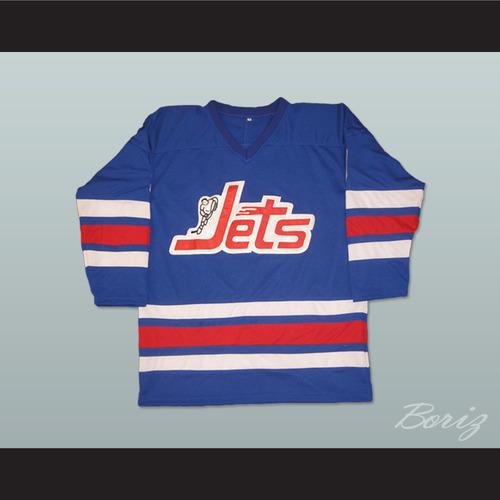 3c0279e97ee WHA 1972-73 Winnipeg Jets Bobby Hull 9 Away Hockey Jersey. BLUE JETS HULL 9  PIC 8.jpg