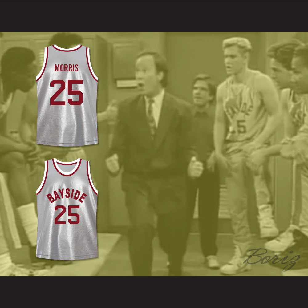 100a0ee2edf7 Saved By The Bell Zack Morris 25 Bayside Tigers Basketball Jersey — BORIZ