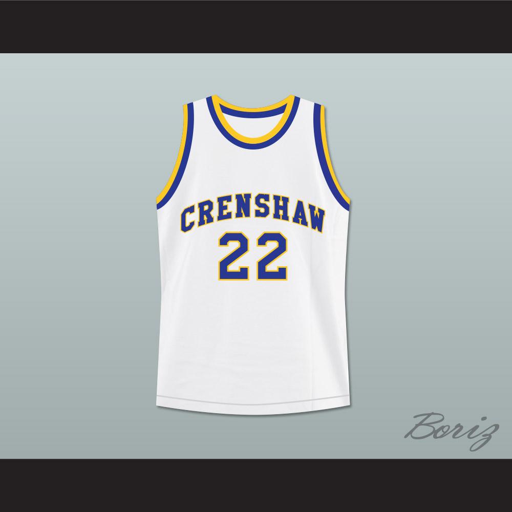 b6d89b609ce Omar Epps Quincy McCall 22 Crenshaw High School Basketball Jersey Love and  Basketball