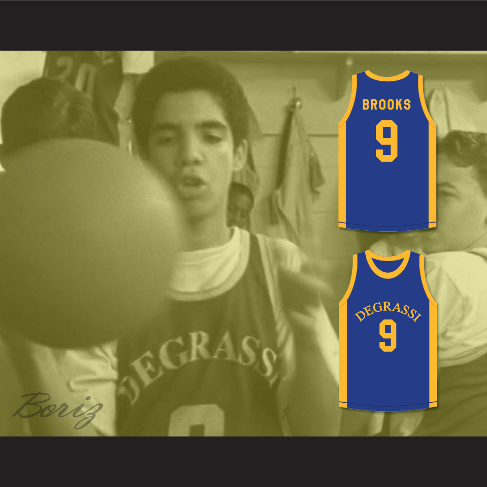 e8a02e050b7e DRAKE JIMMY BROOKS 9 DEGRASSI COMMUNITY SCHOOL PANTHERS BASKETBALL JERSEY —  BORIZ