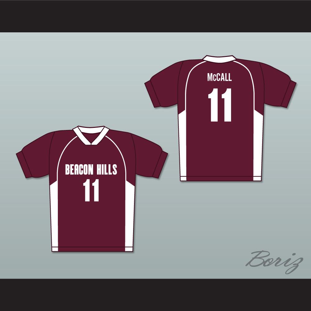 d22237e669c7 Scott McCall 11 Beacon Hills Cyclones Lacrosse Jersey Teen Wolf Maroon  Style — BORIZ