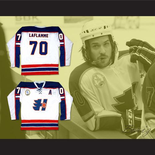 Xavier LaFlamme 70 Halifax Highlanders Hockey Jersey Includes EMHL ... 4985f54c8c2