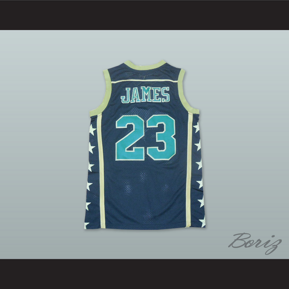 on sale 502cb 73964 Lebron James 23 Fighting Irish High School Black Basketball Jersey