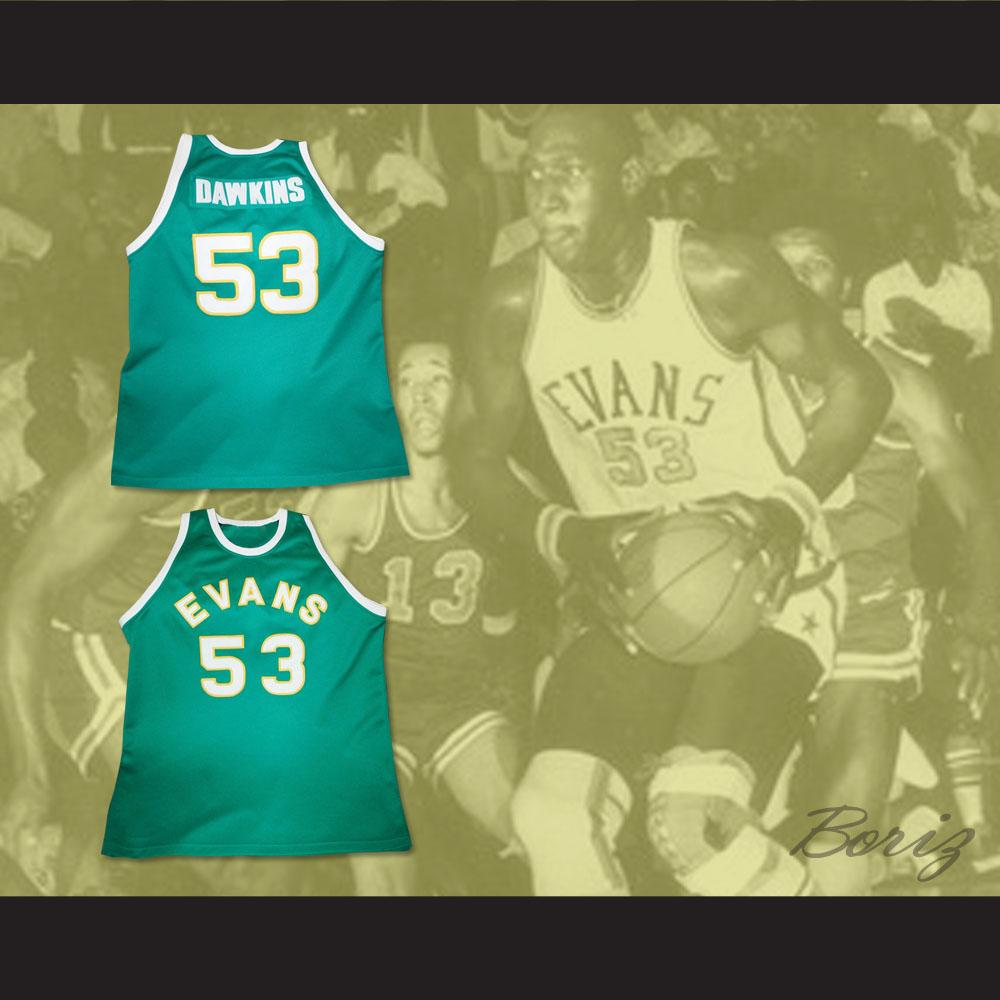 b6830ede6fa DARRYL DAWKINS 53 MAYNARD EVANS HIGH SCHOOL BASKETBALL JERSEY — BORIZ