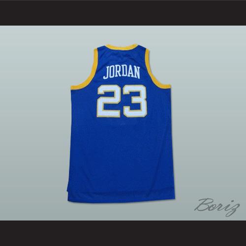 91a3e81e44e MICHAEL JORDAN 23 LANEY HIGH SCHOOL BUCCANEERS BLUE BASKETBALL ...