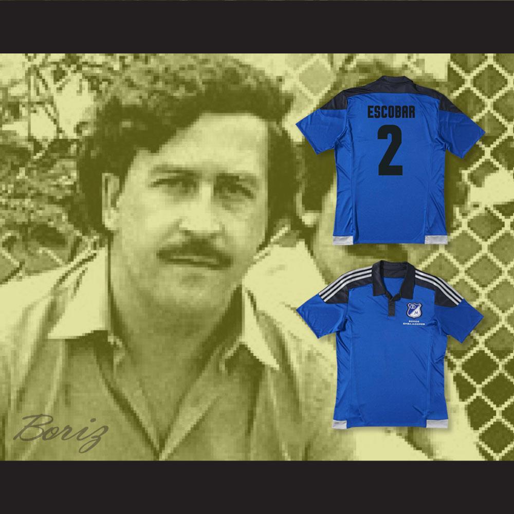 38735f7bdb9 PABLO ESCOBAR 2 MILLONARIOS FC COLOMBIA FOOTBALL SOCCER SHIRT JERSEY — BORIZ