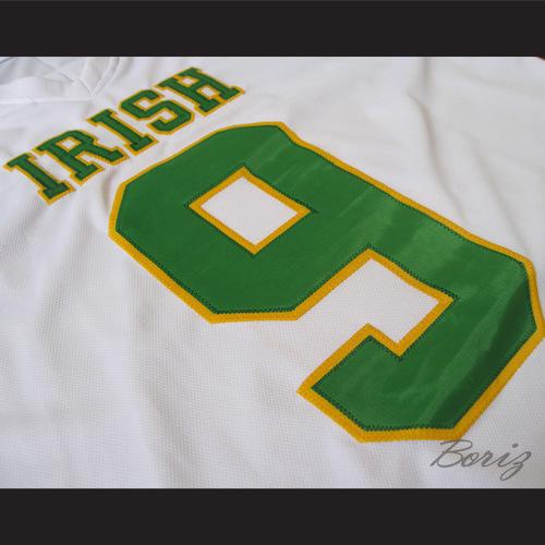 244dffa49 Lebron James 9 Fighting Irish High School Football Jersey White — BORIZ