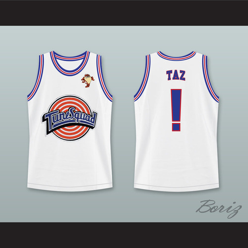 d28cec72dcd Space Jam Tune Squad Taz! Basketball Jersey with Taz Patch Space Jam ...