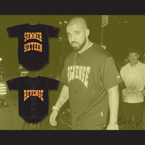 1d1c509d3cc Drake Summer Sixteen Revenge Looking For Revenge Baseball Jersey — BORIZ