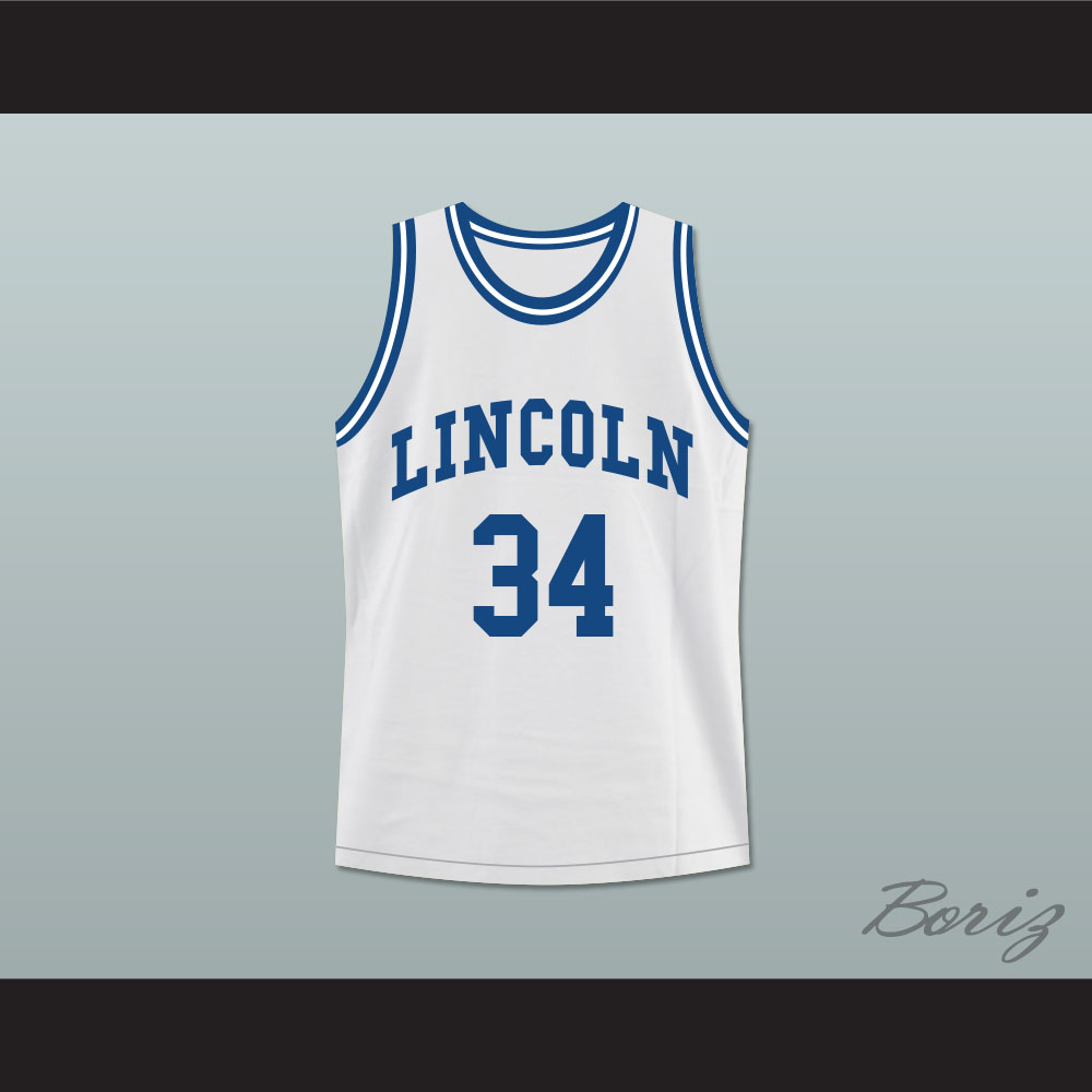 fc6f0f5183e3 Ray Allen Jesus Shuttlesworth 34 White Lincoln High School Basketball Jersey  He Got Game — BORIZ