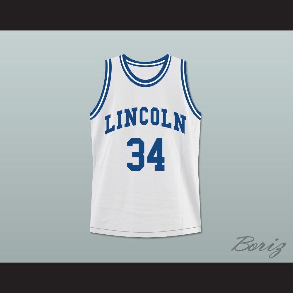 fc6f0f5183e3 Ray Allen Jesus Shuttlesworth 34 White Lincoln High School Basketball Jersey  He Got Game — BORIZ