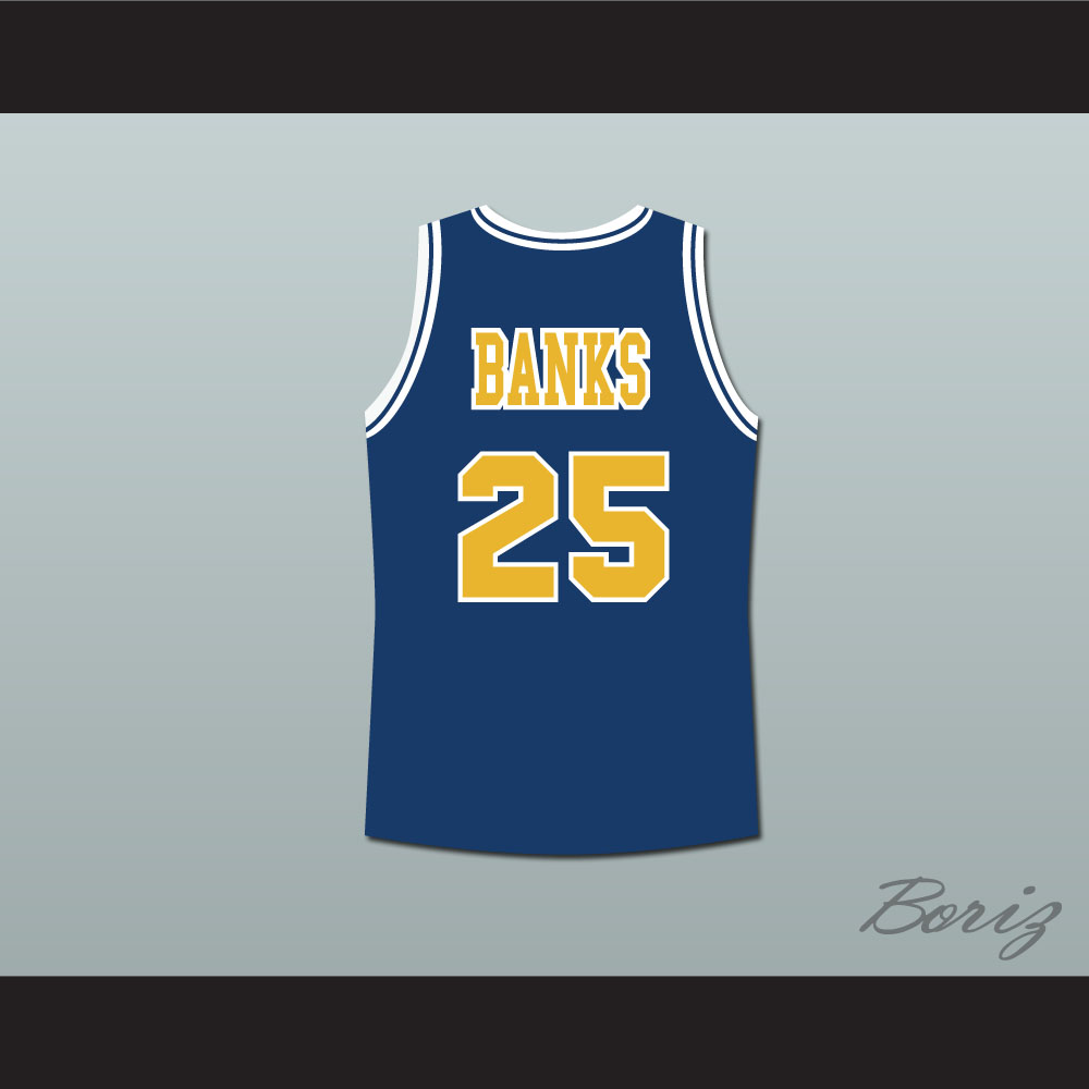 02b174356b4e The Fresh Prince of Bel-Air Alfonso Ribeiro Carlton Banks Bel-Air Academy  Blue Basketball Jersey — BORIZ