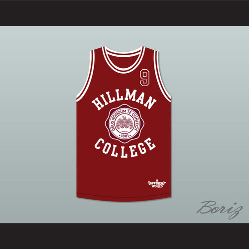 a8f30fc0ae97 Dwayne Wayne 9 Hillman College Maroon Basketball Jersey Deluxe A Different  World. HILLMAN 9 MAROON DELUXE 1.jpg
