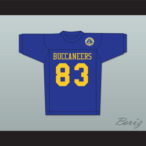 65308ba1cba Michael Jordan 83 Laney High School Buccaneers Blue Football Jersey ...