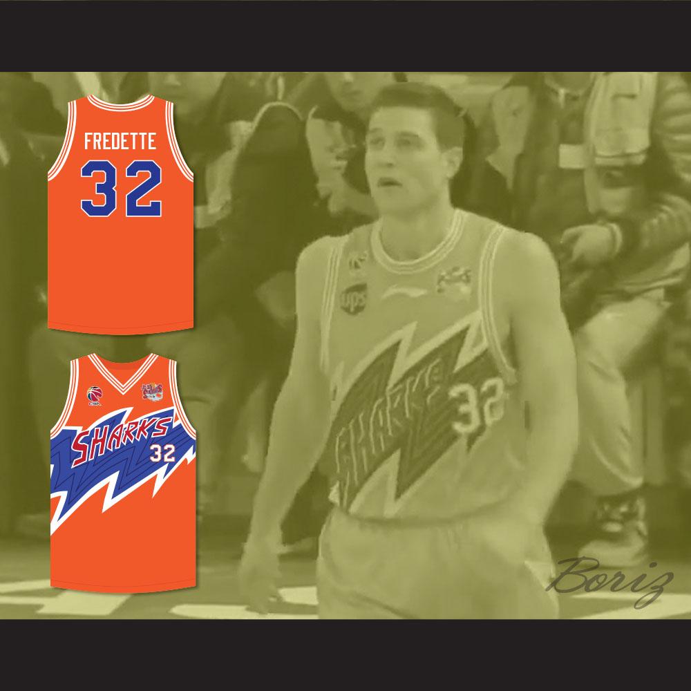 ecd7c3062914 Jimmer Fredette 32 Shanghai Sharks Orange Basketball Jersey with CBA    Sharks Patch — BORIZ