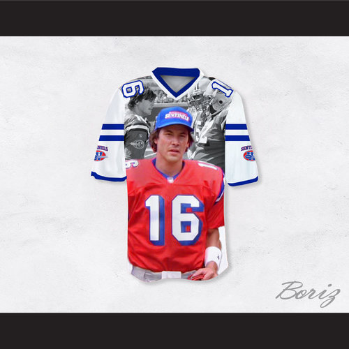 d30d48064ac Shane Falco 16 Sentinels Movie Scenes White Football Jersey The ...