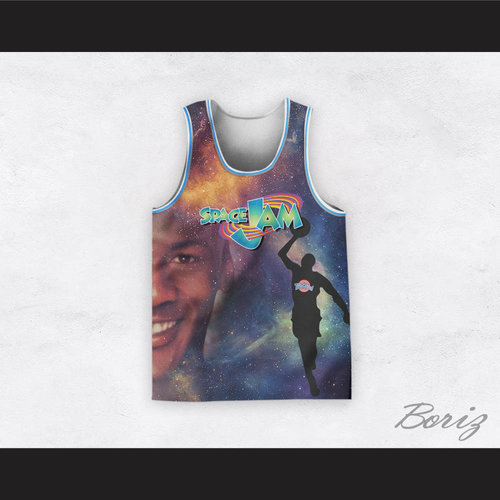Michael Jordan 23 Space Jam Cosmic Basketball Jersey. Space Jam Basketball  A 1.jpg 1c368904d