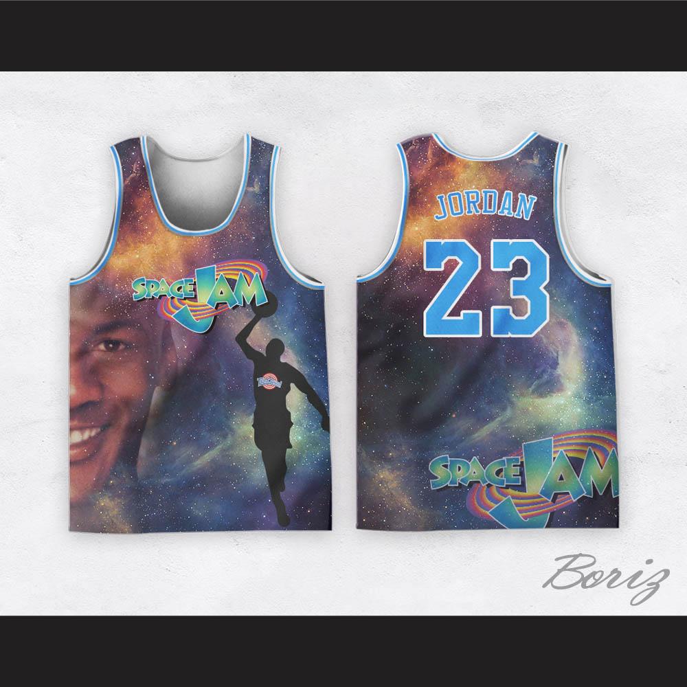 Michael Jordan 23 Space Jam Cosmic Basketball Jersey — BORIZ c631ea56e
