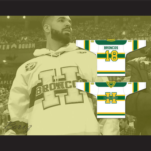 Humboldt Broncos 18 White Alternate Hockey Jersey — BORIZ e0707a51a
