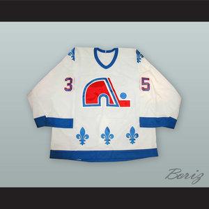 Stephane Fiset 35 Quebec Nordiques 1.jpg. Stephane Fiset 35 Quebec Nordiques  White Hockey Jersey eaea3175f